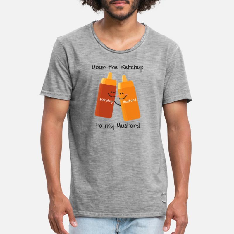 Bestill Sennep Ketchup T skjorter på nett | Spreadshirt