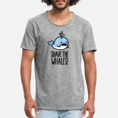Save The Whales Shave the whales! - Vintage T-skjorte for menn