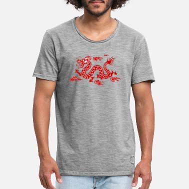 Chinese Dragon Traditional Chinese Dragon - Men's Vintage T-Shirt