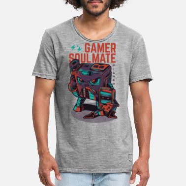 Gaming Collection gamer Soulmate - Vintage T-shirt herr