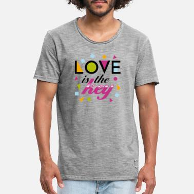 love is the key - Männer Vintage T-Shirt