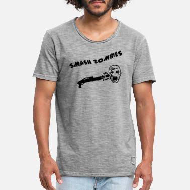 Shoot Em Up Smash Zombies - Männer Vintage T-Shirt