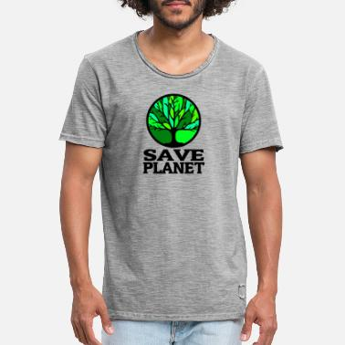 Red Planet Red planeet - Mannen vintage T-shirt