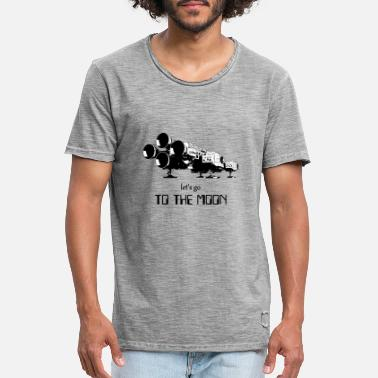 Scifi Let's go to the moon - Männer Vintage T-Shirt
