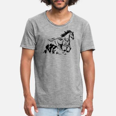 galloping stallion - Men's Vintage T-Shirt