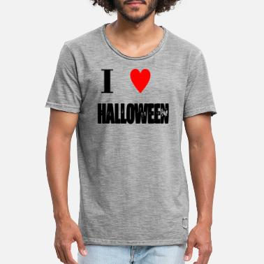 Hodetelefoner I love Halloween - Men's Vintage T-Shirt