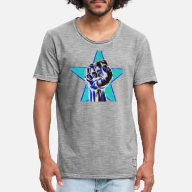 Urban Graffiti Fist in Blue Streetwear Urban - Gift - Men's Vintage T-Shirt