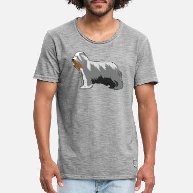 Bearded Collie bearded collie Dog - Men's Vintage T-Shirt