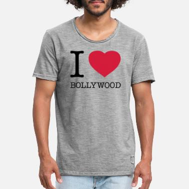 Bollywood I LOVE BOLLYWOOD - Vintage T-skjorte for menn