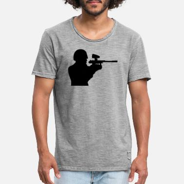 Sportauto aim helmet paintball fun sport club shooting - Men's Vintage T-Shirt