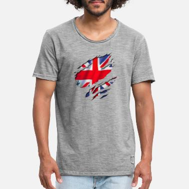 British britain england flag - Men's Vintage T-Shirt