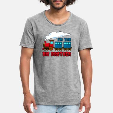 Brother Big brother Train - Men's Vintage T-Shirt