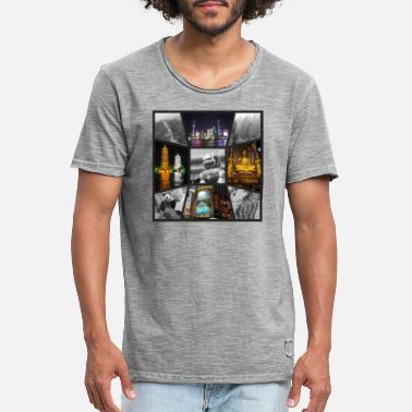 Hangzhou Chinese sights - Men's Vintage T-Shirt