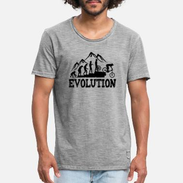 Downhill MTB Evolution - Men's Vintage T-Shirt