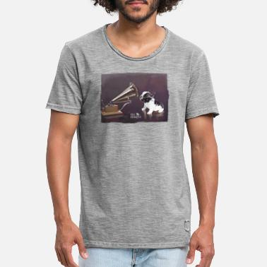 Listening Frenchie - Men's Vintage T-Shirt