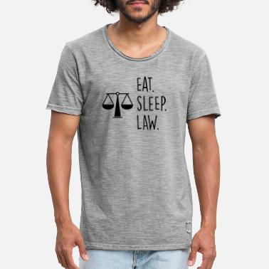 Eat. Sleep. Law. - T-shirt vintage Homme