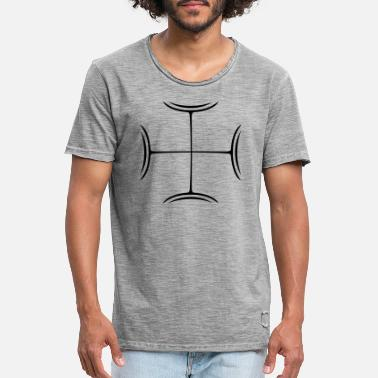 Crusader Cross X Design - Men's Vintage T-Shirt
