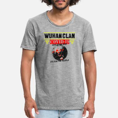 Clan Wuhan Clan World - Männer Vintage T-Shirt