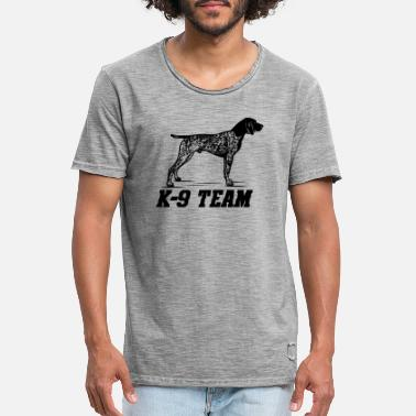 Search K-9 Team - German Shorthaired Pointer - Men's Vintage T-Shirt