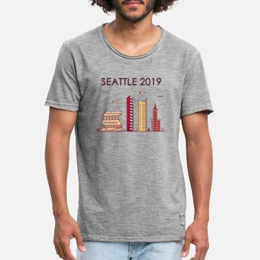 Seattle Seahawks Seattle 2019 - T-shirt - Mannen vintage T-shirt