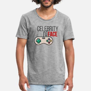 Celebrity Celebrity game face - Männer Vintage T-Shirt
