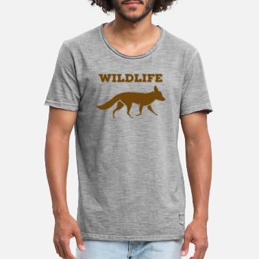Wildlife Wildlife Fox - T-shirt vintage Homme