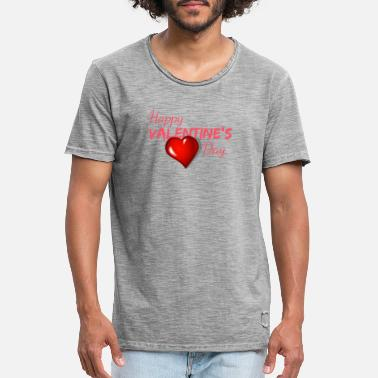 Happy Valentine's Day! - Männer Vintage T-Shirt