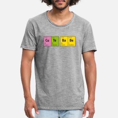 Blitzgescheit Periodic Table of Elements CuTe BaBe (cute baby) - Men's Vintage T-Shirt