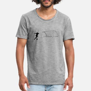 Shot On Goal Soccer shot on goal - Men's Vintage T-Shirt