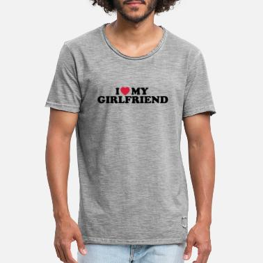 I Love My I love my girlfriend - Vintage T-shirt herr