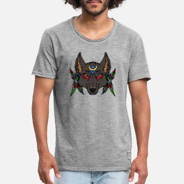 wolf feathers - Men's Vintage T-Shirt