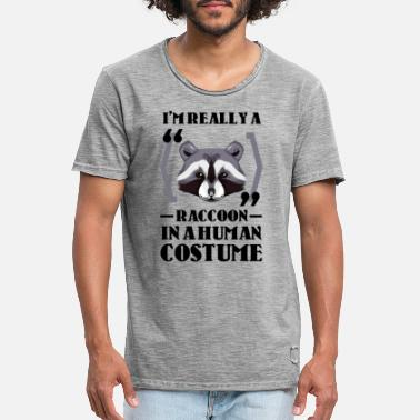 Raccoon I'm really a Raccoon in a human costume - Men's Vintage T-Shirt