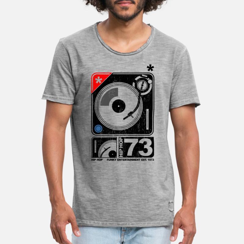 Les anciennes T SHIRT HIP HOP DJ Rétro Vintage Music Tee