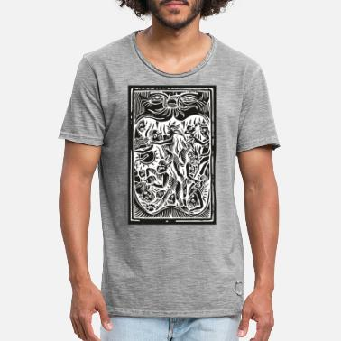 Middle Ages Tortured witches Middle Ages Woodcut - Men's Vintage T-Shirt