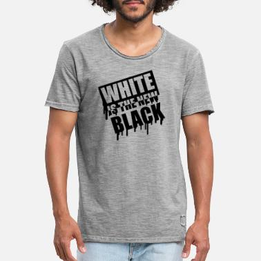 White Is The New Black White Is The New Black Graffiti - Männer Vintage T-Shirt