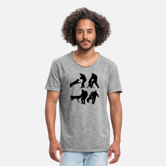 Dogs T-Shirts - Dog Sport - Men's Vintage T-Shirt vintage gray