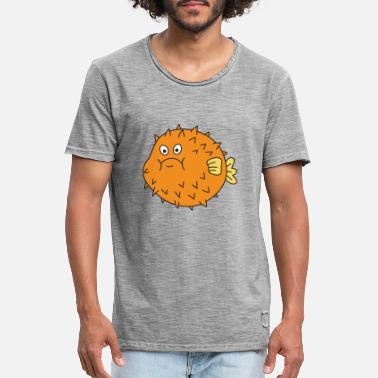 Fish puffer fish - Men's Vintage T-Shirt