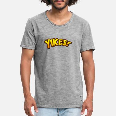 Rage Face Comic yikes! - Vintage T-shirt mænd