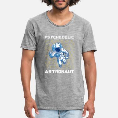 Trippy Trippy Space Rave Psychedelic Astronaut - Vintage T-skjorte for menn