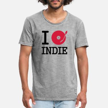 Independent I dj / play / listen to indie - Men's Vintage T-Shirt