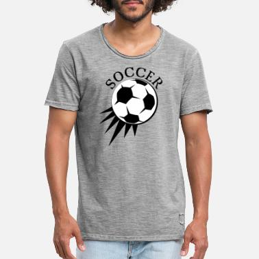 Soccer Ball soccer soccer ball symbol - Men's Vintage T-Shirt