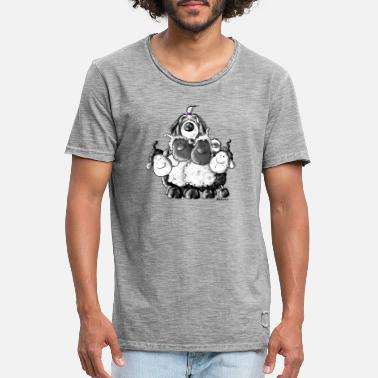 Bearded Collie Bearded Collie et les moutons- chien - tee shirt - T-shirt vintage Homme