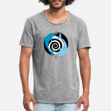 Dolphin love spiral. - Men's Vintage T-Shirt