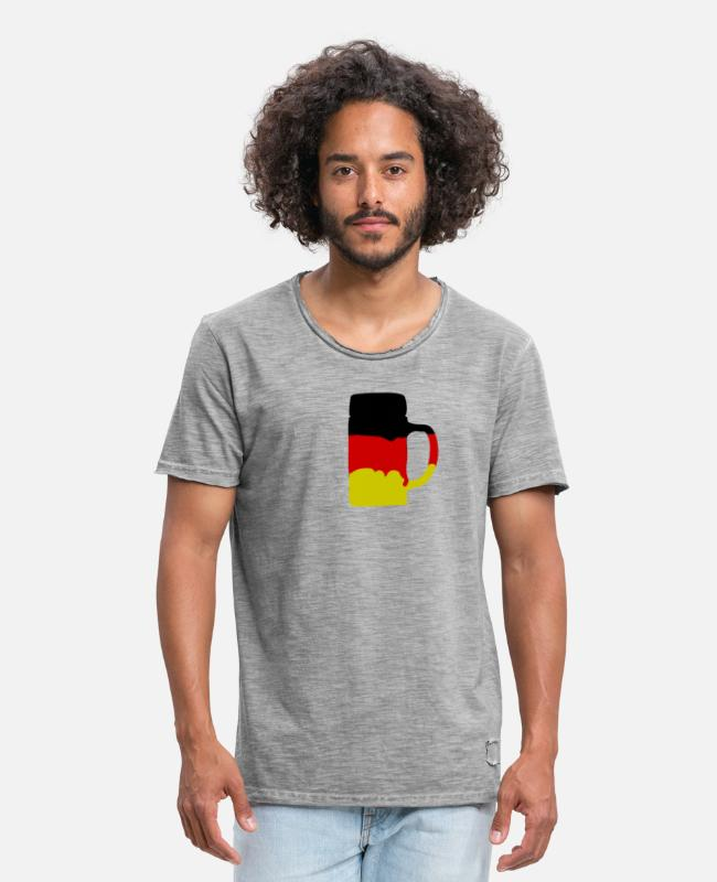 Frankfurt T-Shirts - Germany - Men's Vintage T-Shirt vintage grey