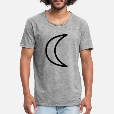 Moon Sign Moon symbol astrology moon phase sign - Men's Vintage T-Shirt