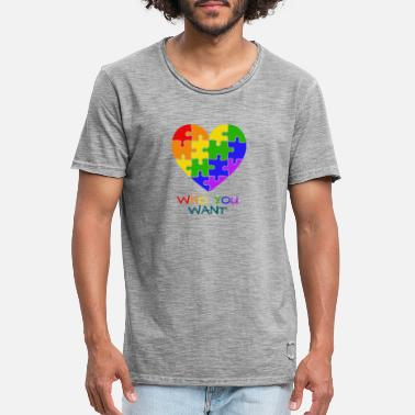 Love who you want - The Pride - Männer Vintage T-Shirt