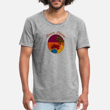 Beach Holiday Beach Please Mallorca beach holiday gift - Men's Vintage T-Shirt