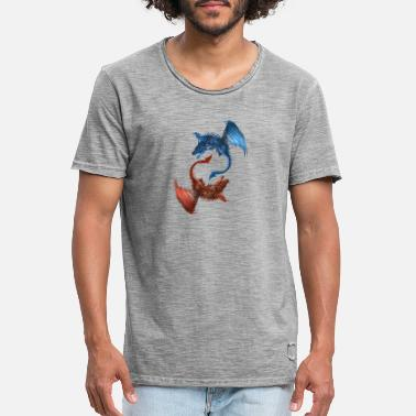 Two dragon kite fight - Men's Vintage T-Shirt