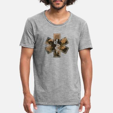 Medical Paramedics Camouflage Medical Symbol - Men's Vintage T-Shirt
