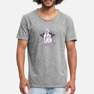 Virgin Mary Dystopida Virgin Mary and Wings - Men's Vintage T-Shirt